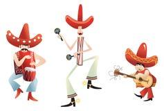 Den Joyful mariachien band Royaltyfri Bild