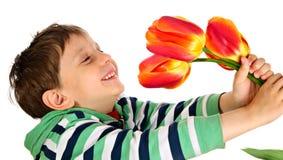 Den joyful pojken Arkivfoton