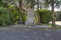 Den judiska kyrkogården i Vreelandseweg Royaltyfria Bilder