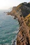 Den Jurasic kustvisningen vaggar skikt, nära västra Lulworth, Purbeck, Dorset Royaltyfria Foton