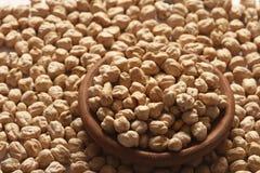 Den Kabuli chanaen eller kikärtar är höga i protein från Mellanösten Fotografering för Bildbyråer