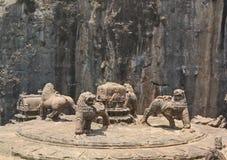 Den Kailasa templet, Ellora grottor Arkivfoto