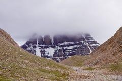 Den Kailash bergnorden sluttar Fotografering för Bildbyråer