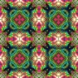 Den kalejdoskopiska blomman parkerar bakgrund Splited färgrik bild in i tegelplattor Royaltyfria Foton
