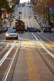 Den Kalifornien gatan i den San Fransisco staden royaltyfri fotografi