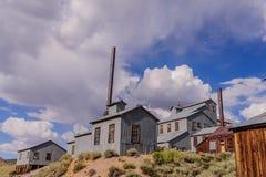 Den kaliforniska spökstaden av Bodie Arkivbild