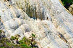 Den kalkstenvattenfallHierve el aguaen, Oaxaca, Mexico 19th Maj 2015 Royaltyfri Foto
