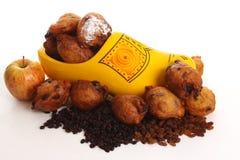 den kallade donutsholländare oliebollen royaltyfri fotografi