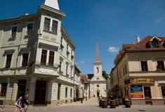 Den kalvinistiska kyrkan i KoÅ ¡ is Slovakien arkivfoton