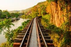Dödjärnväg av Thailand Fotografering för Bildbyråer