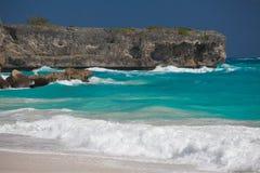 Den karibiska ön av Barbados, det tropiska paradiset med gömma i handflatan hangi Royaltyfria Bilder