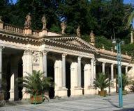 den karlovy carlsbad colonnaden mal varierar royaltyfri bild