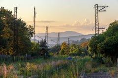 Den kastade järnvägen i Abchazien Arkivbilder