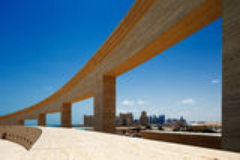 Den Katara amfiteatern, Doha, Qatar royaltyfri fotografi