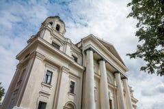Den katolska domkyrkan av antagandet av oskulden Mary och St Stanislaus i Mogilev _ royaltyfri foto