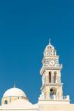 Den katolska domkyrkan St John det baptistiskt, Santorini Royaltyfri Fotografi