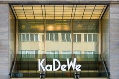 Den Kaufhaus desen Westens (KaDeWe) Arkivbild