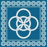 Den keltiska fnuren för fem veck, symboliserar integration av fyra beståndsdelar royaltyfri foto