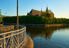 Den Kenigsberg domkyrkan är det huvudsakliga symbolet av staden Kaliningrad royaltyfri bild