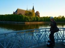 Den Kenigsberg domkyrkan är det huvudsakliga symbolet av staden Kaliningrad royaltyfria foton