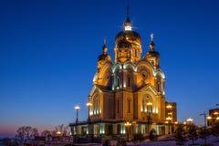 Den Khabarovsk domkyrkan Arkivfoton