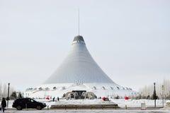 Den KHAN SHATYR underhållningmitten i Astana/Kasakhstan Royaltyfri Fotografi