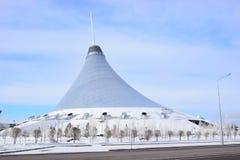 Den KHAN SHATYR underhållningmitten i Astana/Kasakhstan Arkivbilder