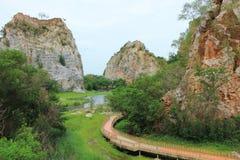 Den Khao Hin ormen vaggar parkerar Arkivbilder