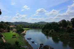 Den Khwae Yai floden Royaltyfria Bilder