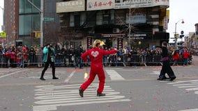 Den 2014 kinesiska berömmen för nytt år i NYC 60 Royaltyfri Bild
