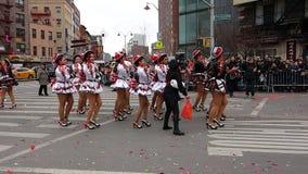 Den 2014 kinesiska berömmen för nytt år i NYC 61 Royaltyfri Fotografi