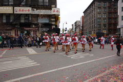 Den 2014 kinesiska berömmen för nytt år i NYC 64 Arkivfoto