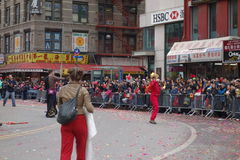 Den 2014 kinesiska berömmen för nytt år i NYC 65 Fotografering för Bildbyråer