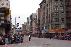 Den 2014 kinesiska berömmen för nytt år i NYC 66 Arkivfoton