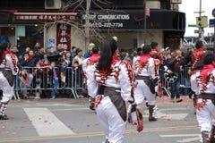 Den 2014 kinesiska berömmen för nytt år i NYC 67 Royaltyfri Foto
