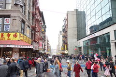 Den 2014 kinesiska berömmen för nytt år i NYC 68 Royaltyfri Fotografi