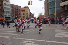 Den 2014 kinesiska berömmen för nytt år i NYC 69 Royaltyfria Foton