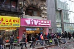 Den 2014 kinesiska berömmen för nytt år i NYC 74 Royaltyfri Bild