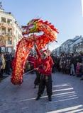 Den kinesiska draken - året av hunden, 2018 arkivfoto
