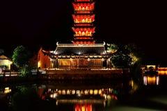 Den kinesiska forntida byn av Wuzhen royaltyfri foto