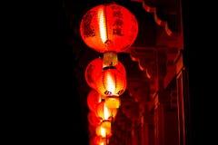 Den kinesiska lampan på gatan Royaltyfria Foton