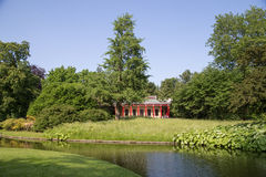 Den kinesiska paviljongen i Frederiksberg parkerar, Danmark Royaltyfri Bild