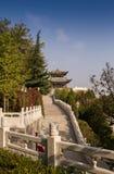 Den kinesiska paviljongen i staden parkerar Royaltyfri Foto