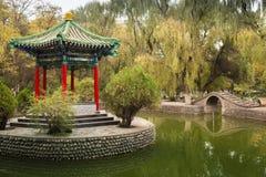 Den kinesiska paviljongen i staden parkerar Arkivfoton