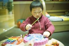 Den kinesiska pojken Arkivbilder