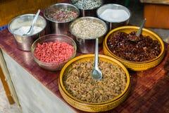 Den kinesiska risgrynsgröten Arkivbild