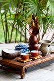 Kinesisk tea-uppsättning Royaltyfri Fotografi