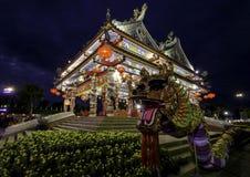 Den kinesiska templet av Udon Thani, Thailand arkivbilder