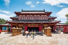 Den kinesiska templet parkerar in Nanshan royaltyfri fotografi