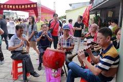 Den kinesiska traditionella folk orkesteren Royaltyfria Foton